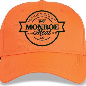 Orange-and-Black-Cotton-Adjustable-Hat