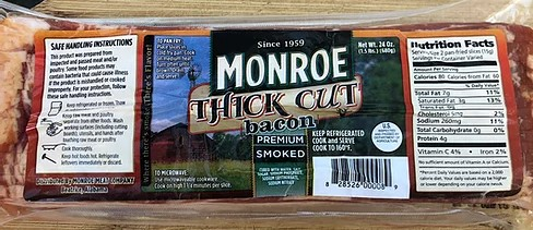 Monroe Thick Cut Bacon